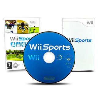 Wii Konsole in Weiss + alle Kabel + 2 Nunchuk + 2 Fernbedienung + Wii Sports