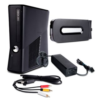 Xbox 360 Konsole Falcon 14,2A mit HDMI Fat mit 120 GB + 3-Cinch + Ladekabel #2S