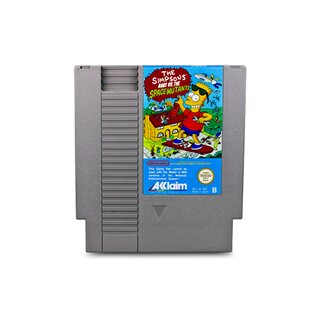 NES Spiel The Simpsons - Bart vs. The Space Mutants