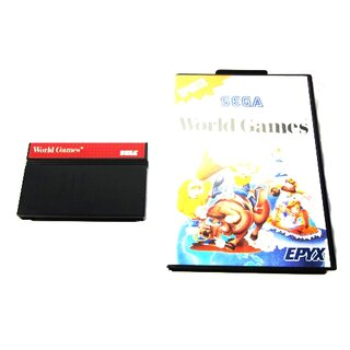 Sega Master System Spiel World Games  #A