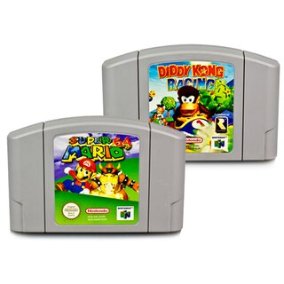 2 N64 SPIELE SUPER MARIO 64 + DIDDY KONG RACING